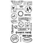 BasicGrey - Basics Collection - Rub Ons - Air Mail - Black, CLEARANCE