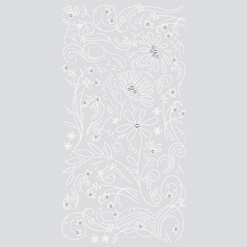 BasicGrey - Marjolaine Collection - Rub Ons with Rhinestones