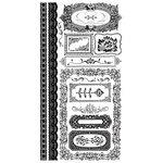 BasicGrey - Curio Collection - Rub On with Rhinestones