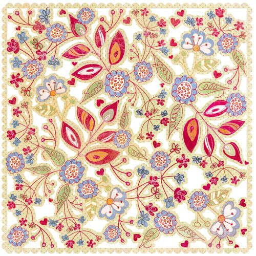 BasicGrey - Sugar Rush Collection - Doilies - 12 x 12 Die Cut Paper - Cream Confectionery , CLEARANCE