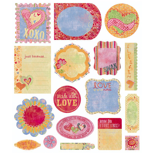 BasicGrey - Sugar Rush Collection - Die Cut Cardstock Pieces, CLEARANCE