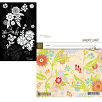 BasicGrey - Romani - White Flower Rub on and 6x6 Paper Pad Kit, CLEARANCE