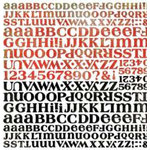 BasicGrey - Letter Stickers - Scarlet's Letter, CLEARANCE