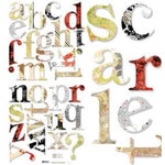 BasicGrey - Monograms - Scarlet's Letter, CLEARANCE