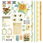 BasicGrey - Serenade Collection - 12 x 12 Element Stickers - Shapes