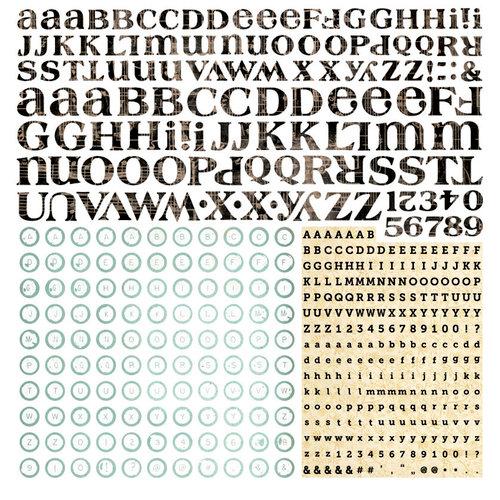 BasicGrey - Serenade Collection - 12 x 12 Alphabet Stickers