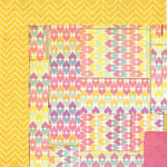BasicGrey - Soleil Collection - 12 x 12 Double Sided Paper - Yellow Umbrella