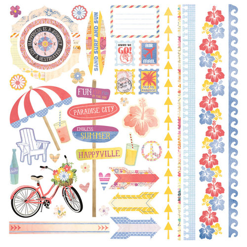 BasicGrey - Soleil Collection - 12 x 12 Element Stickers - Shapes