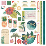 BasicGrey - South Pacific Collection - 12 x 12 Cardstock Stickers - Elements
