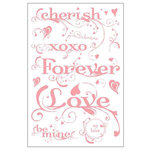 BasicGrey - Two Scoops Collection - Clear Stamp Set - Sweet Sentiments, CLEARANCE