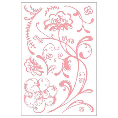 BasicGrey - Two Scoops Collection - Clear Stamp Set - Flower Swash, CLEARANCE