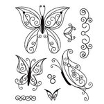 BasicGrey - Wisteria Collection - Clear Acrylic Stamps - Flutter Bitsy, CLEARANCE
