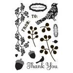 BasicGrey - Indian Summer Collection - Clear Acrylic Stamps - Fauna, CLEARANCE