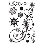 BasicGrey - Eskimo Kisses Collection - Christmas - Clear Acrylic Stamps - Flaked Out