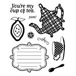 BasicGrey - Nook and Pantry Collection - Clear Acrylic Stamps - Cup of Tea Bitsy, CLEARANCE