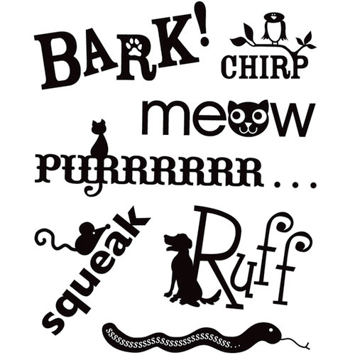 BasicGrey - Max and Whiskers Collection - Clear Acrylic Stamps - Bark Bitsy, CLEARANCE