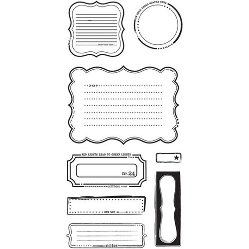 BasicGrey - Basics Collection - Clear Acrylic Stamps - Basic Notes