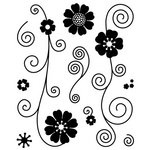 BasicGrey - Jovial Collection - Clear Acrylic Stamps - Floral Flurries Bitsy, CLEARANCE