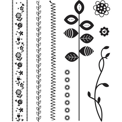 BasicGrey - Pyrus Collection - Acrylic Stamps - Stitches Bitsy, CLEARANCE