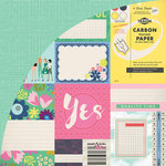 BasicGrey - Saturday Morning Collection - 12 x 12 Double Sided Paper - Journaling Card Sheet