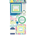 BasicGrey - Saturday Morning Collection - Cardstock Stickers - Journal