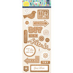 BasicGrey - Saturday Morning Collection - Cork Stickers - Printed Shapes