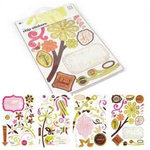BasicGrey - Sultry Collection - Chipboard Sticker Shapes