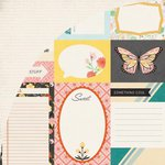 BasicGrey - Sun Kissed Collection - 12 x 12 Double Sided Paper - Journaling Card Sheet