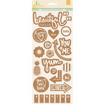 BasicGrey - Sun Kissed Collection - Cork Stickers