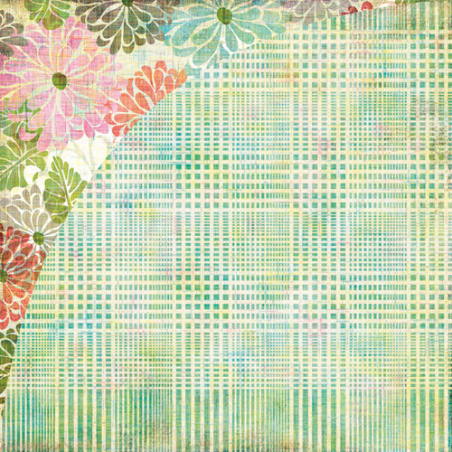BasicGrey - Sweet Threads Collection - 12 x 12 Double Sided Paper - The New Plaid