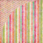 BasicGrey - Sweet Threads Collection - 12 x 12 Double Sided Paper - Edgy Stripe