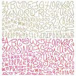 BasicGrey - Sweet Threads Collection - 12 x 12 Alphabet Stickers