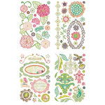 BasicGrey - Sweet Threads Collection - Adhesive Chipboard - Shapes
