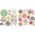 BasicGrey - Sweet Threads Collection - Petals - Die Cut Cardstock and Canvas Pieces