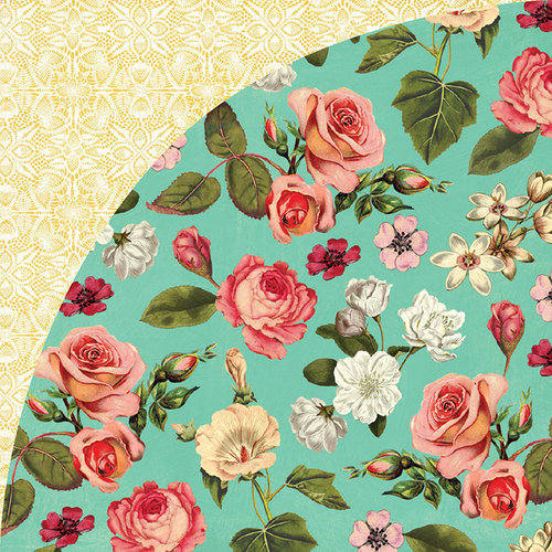 BasicGrey - Tea Garden Collection - 12 x 12 Double Sided Paper - Rose Hip