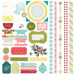 BasicGrey - Tea Garden Collection - 12 x 12 Cardstock Stickers - Elements