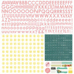 BasicGrey - Tea Garden Collection - 12 x 12 Cardstock Stickers - Alphabet