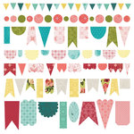 BasicGrey - Tea Garden Collection - 12 x 12 Cardstock Stickers - Banners