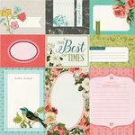 BasicGrey - Tea Garden Collection - 12 x 12 Double Sided Paper - Journal Cards