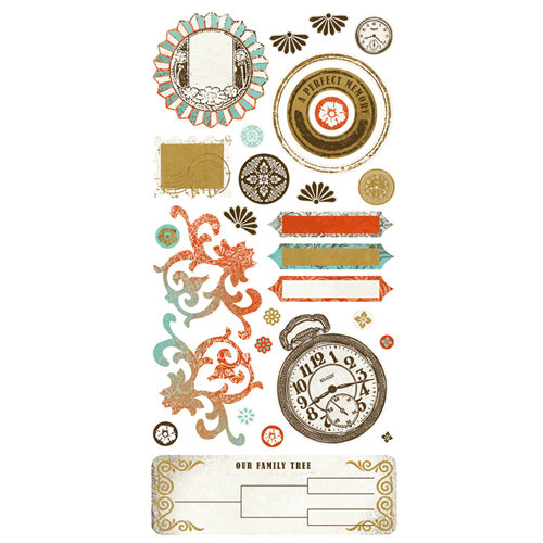 BasicGrey - Cardstock Stickers - Heritage Element