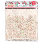 BasicGrey - True Love Collection - Adhesive Chipboard - Printed Alphabet