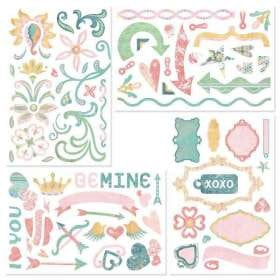 BasicGrey - Two Scoops Collection - Chipboard Stickers - Shapes, CLEARANCE