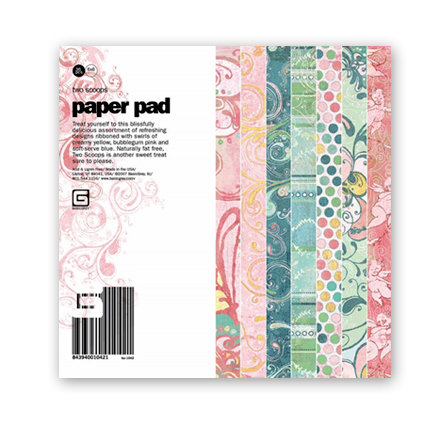 BasicGrey - Two Scoops Collection - 6x6 Paper Pads -Two Scoops