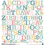 BasicGrey - Two Scoops Collection - Mini Monogram Stickers - Two Scoops