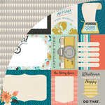 BasicGrey - Typeset Collection - 12 x 12 Double Sided Paper - Journaling Card Sheet