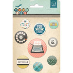 BasicGrey - Typeset Collection - Flair - Adhesive Badges
