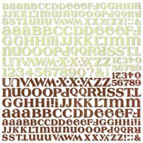 BasicGrey Letter Stickers - Urban Couture, CLEARANCE