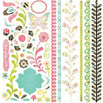 BasicGrey - Urban Prairie Collection - 12 x 12 Element Stickers - Shapes