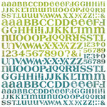 BasicGrey - Oliver Collection - 12 x 12 Alphabet Stickers