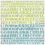BasicGrey - Oliver Collection - 12 x 12 Alphabet Stickers
